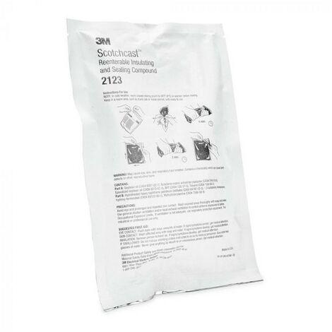 Résine Démontable IP68 3M™ Scotch® 2123 C 350gr  Blanc  -  Blanc