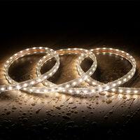 Ruban LED Dimmable 220V AC 60 LED/m Blanc Neutre IP65 sur Mesure Coupe Tous les 100cm 1m -  1m