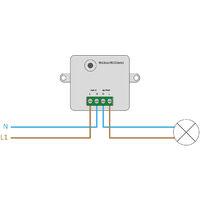 Interrupteur Smart WiFi pour Boîte de Dérivation Universelle  Blanc  -  Blanc