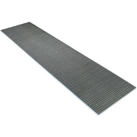 Panneau à carreler rainuré dans la longueur 250 x 60 cm - 3 cm d'épaisseur