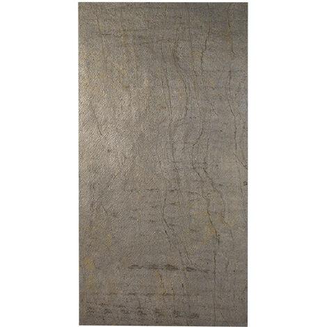 Paroi de douche en pierre naturelle 200 x 100 cm ardoise claire