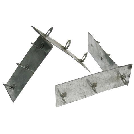 Accessoire douche à l'italienne - ancrages perpendiculaires pour panneaux à carreler (2)