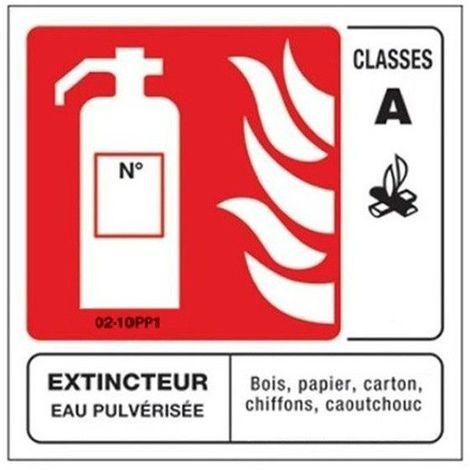 Panneaux Extincteur Classe A 100x100