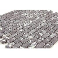 Mosaic Warehouse Grey Brick Mosaic Tile Sheet 300mm x 300mm