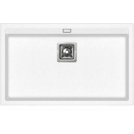 Evier granit blanc - rectangle sans égouttoir - DELICIA - MOINSCHERCUISINE