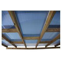 Toit Couv'Terrasse® en bois 3x7,4 m - Avec toit polycarbonate