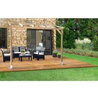 Toit Couv'Terrasse® en bois 3x2 m - Avec Toit
