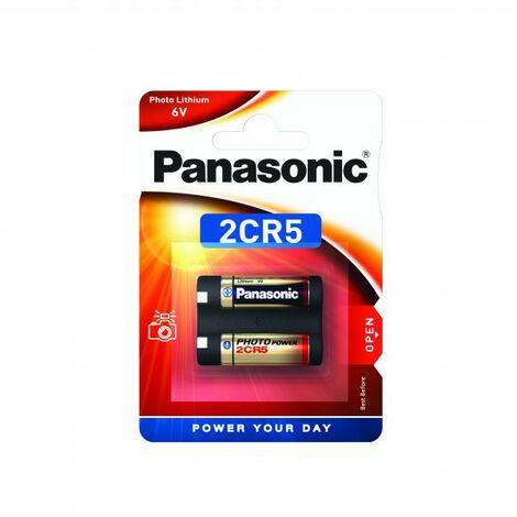 Panasonic Pile Lithium Photo 2CR5, 6 V, pour appareil photo (2CR-5L/1BP)