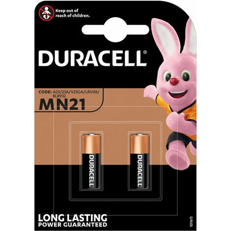 Duracell Pile alcaline MN21 / A23, 2 pièces en blister (203969)