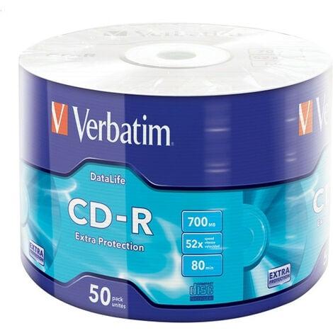 Verbatim CD-R Extra Protection - CD-R - 700 Mo - 50 pièce(s) - 52x (43787)