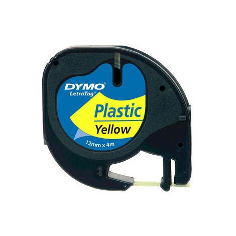 Dymo Ruban pour étiquettes printer 59423 12mm 4m noir printing/yellowLetraTag