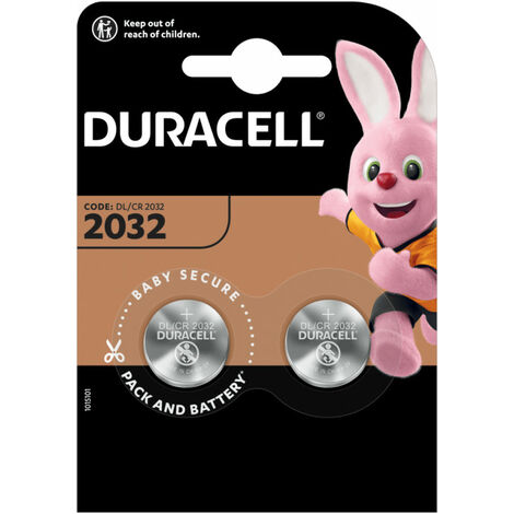 Duracell Pile Bouton '2032', 3 Volt, Blister 2, 230 mAh (203921)