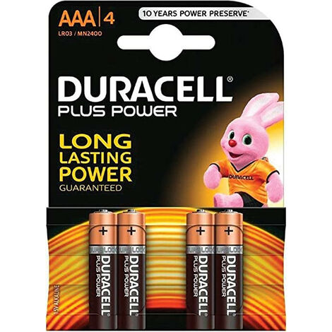Duracell Pile Power Plus AAA MN2400 4-P (018457-023130)