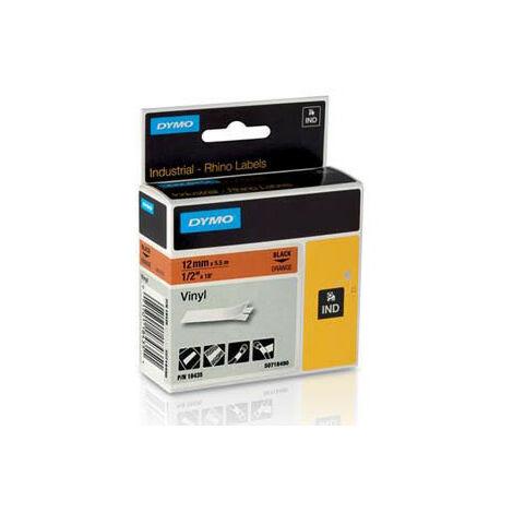 Dymo Ruban pour imprimante etiquettes 18435, S0718490, 12mm, 5,5m, orangeRHINO vinyl (18435)