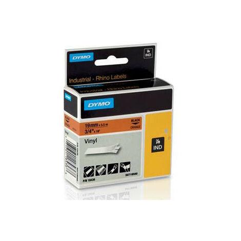 Dymo Ruban pour imprimante etiquettes 18436, S0718500, 19mm, 5,5m, orangeRHINO vinyl (18436)