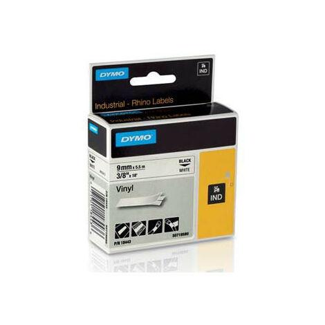 Dymo Ruban pour imprimante etiquettes 18443, S0718580, 9mm, 5.5m, noir, printing/whit (18443)