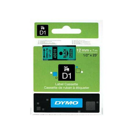 Dymo Ruban pour imprimante etiquettes 45019, S0720590, 12mm, 7m, noir, printing/green (S0720590)