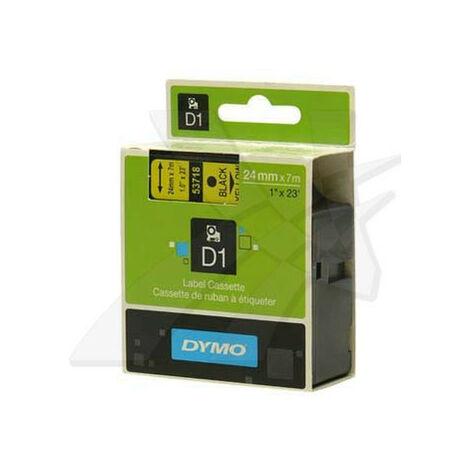 Dymo Ruban pour imprimante etiquettes 53718, S0720980, 24mm, 7m, noir, printing/yello (53718)