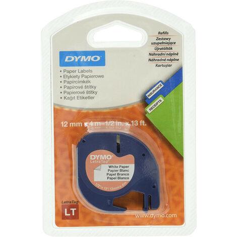 Dymo Ruban pour imprimante etiquettes 59421, S0721500, 12mm, 4m, noir, printing/white (59421)