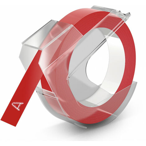 Dymo Ruban pour imprimante etiquettes S0898150, 9mm, 3m, noir, printing/red3D (S0898150)