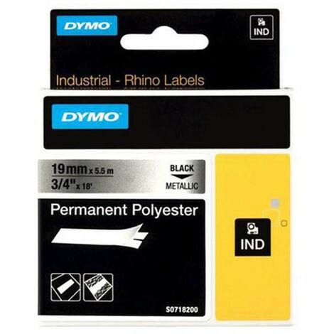 Dymo Ruban pour imprimante étiquette , 18487, 19mm, 5,5m, metallicRHINO permanent pol (18487)