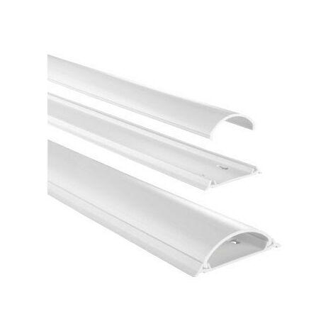Hama Chemin de câble en PVC, semi-circulaire, 100/7/2,1 cm, blanc (83161)