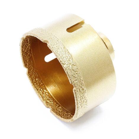 Scie cloche diamant Forage de verre Perçage de carrelage Pierre Scie Trépan à sec Diamètre : 82mm
