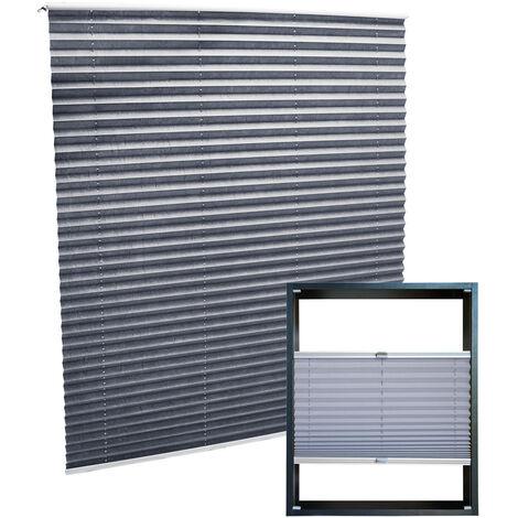 Store gris 45x100cm Store plissé Pare-vue Moderne Rideau occultant de fenêtre Persienne
