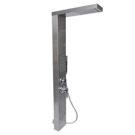 Colonne de douche multifonctionnelle avec Jet pluie Acier fin Buses de massage & Pommeau