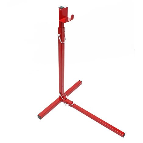 Cric �l�vateur manuel L�ve tondeuse Aide Nettoyage Charge maximale de 18 kg, r�glable en hauteur
