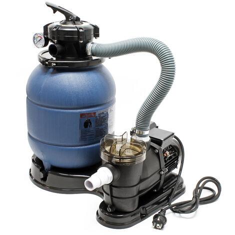 Filtre à sable et particules Système de filtration Pompe de filtrage Piscine Swimmingpool