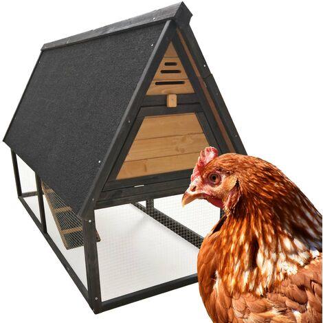 Poulailler Cage poules Enclos Élevage Volaille Pondoir Perchoir Bac amovible