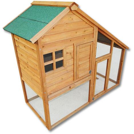 Cabane à petits rongeurs Clapier Poulailler Abri petits animaux Enclos Espace libre