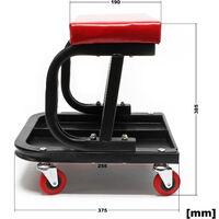 Tabouret de mécanicien Servante d'atelier mobile sur roulette Plateau outils inclus Rangement