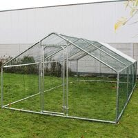 Enclos extérieur Volière Poulailler Clapier de lapin Petite cage pour animaux L2xH3xH2m Auvent