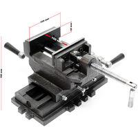 Étau de fraisage 2 Axes 150 mm Perceuse à tarauder Table croisé Établi Étau machine Outil Atelier