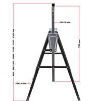Jeu de 2 Tréteaux télescopiques Pliables Chevalet Échafaudage Hauteur réglable 80-130cm 200kg max.