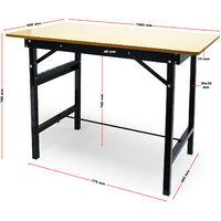 Table de travail Pliable 150 kg max. Établi Surface de travail avec Règle linéaire et Rapporteur