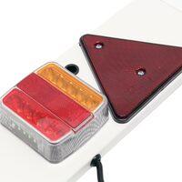 Rampe Éclairage LED Remorque 7 Broches L137cm & Câble de 6m avec Feux arrière Stop & Clignotants