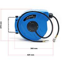 Enrouleur automatique Tuyau à air comprimé 10m+1m Support mural pivotable 180° Dévidoir pneumatique