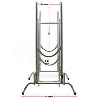 Chevalet de sciage Pliable 830x710x1155mm Pour différentes épaisseurs de grumes Plaques MDF Tréteau