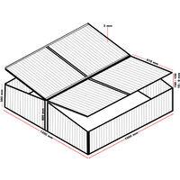 Mini Serre de jardin Double en Aluminium 100x120x40cm avec Vérin Résistant aux intempéries Rayons UV