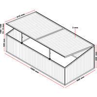 Serre de jardin en Aluminium 100x60x40cm avec Vérin Résistant aux intempéries et Protection UV