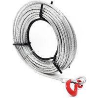 Treuil à câble 800kg max. Palan 20m Ø 8,3mm Goupille cisaillement Crochet Charge Levage Traction