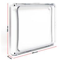 Table de camping Pliante Surface blanche 80x60cm Plaque MDF avec Cadre en Aluminium Terrasse Pêche