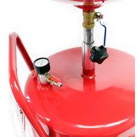 Appareil Récupérateur huile pneumatique Mobile 80L Hauteur réglable 122-183cm Vidange Huile usagée