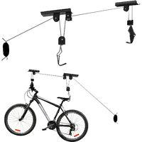 Support Ascenseur Vélo 20 kg Porte- Bicyclette Rangement Garage Stockage Plafond Élévateur