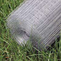 Grillage maille Grille métallique Volière Acier Galvanisé 1mx25m Épaisseur fil 0,75mm Maille 19x19mm