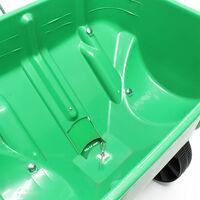 Epandeur Wiltec engrais/sel/sable/semences 25kg avec pneus en matière plastique