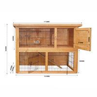 Cabane grand espace à deux étages pour petits rongeurs Cage à lapins